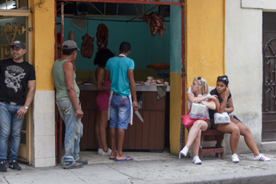 Private butchers shop.  Photo: Juan Suarez