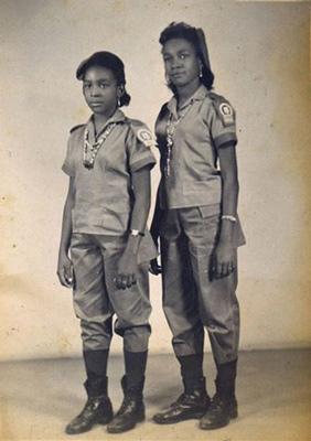 Norma & Daysi Guillard as brigadistas in 1961
