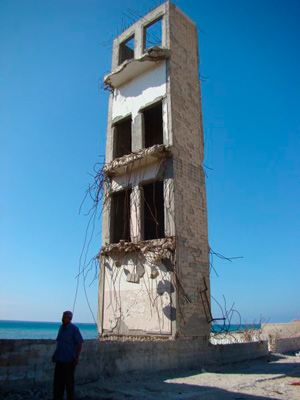 Hotel in  Gaza.  Photo: Julie Webb Pullman