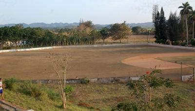 Baseball field in Aguacate.