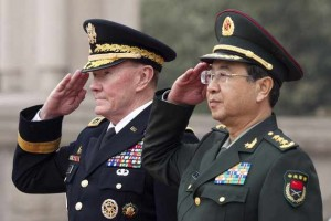 At the Pentagon, Fenghui held talks with Army Gen. Martin E. Dempsey, chairman of the Joints Chief of Staff.