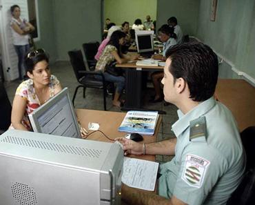 Cuban immigration office.  Photo: radiorebelde.cu