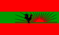 The flag of UNITA