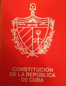 The Cuban constitution.