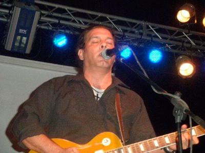 Eddy Escobar singing the blues.