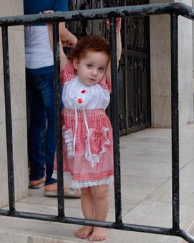 Gaza girl in the street.  Photo: Julie Webb-Pullman