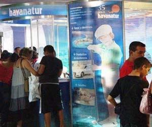 Havanatur sales point at Havana's Carlos III Shopping Center.
