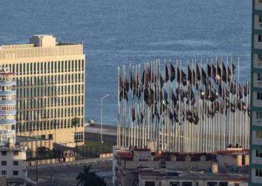 US Interests Section office building in Havana.