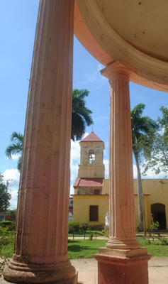 Town square of Aguacate.