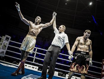 Heavyweight (91kg) Erislandy Savon (L) Cuba Domadores vs Abdulkadir Abdullayev (R) Azerbaijan Baku Fires