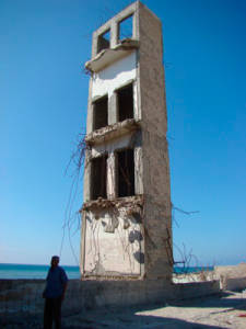 Hotel.  Gaza File photo from Julie Webb Pullman.