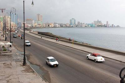 "Havana's ""Malecon"" seaside drive.  Photo: Juan Suarez."