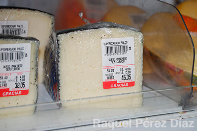 The prices of some products lead to contraband. This piece of cheese costs the equivalent of a State employee's 2 full monthly salaries.