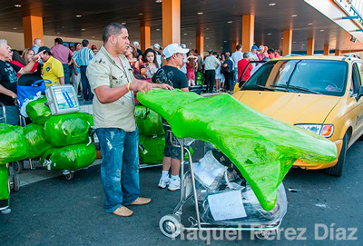 3-Cubans bring the strangest things from abroad, from car tires to disposable diapers.