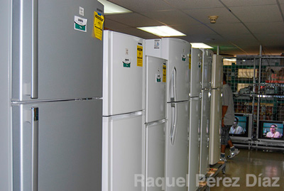 4-These fridges cost 600 euros at stores around Europe. They are sold at double that price in Cuba.