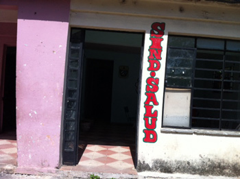 The Boyeros municipal health workers union office.