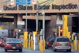 Immigration check point at the US-Mexican border