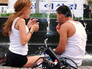 Cuban smokers. The habit is common among young people.