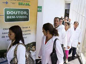 Cuban doctors in Brazil. Photo: Folhapress.