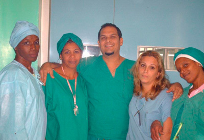 Daniel with other health professionals.