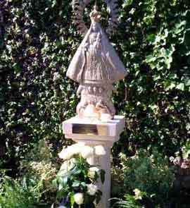 Virgen de la Caridad, installed at the Vatican Gardens this past Thursday