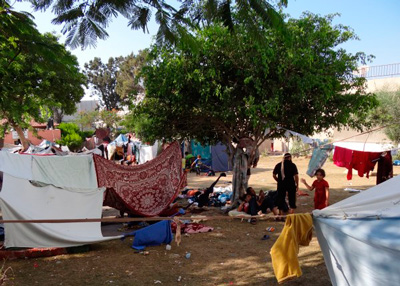 The displaced.  Foto: Julie Webb-Pullman
