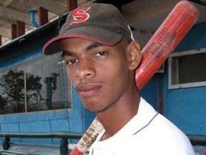 El pelotero cubano Hector Olivera