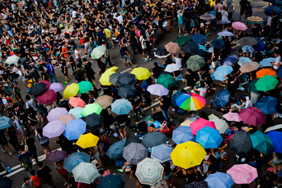 Hong Kong umbrella protest.  Photo: mashable.com