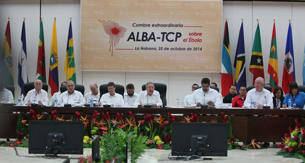 Cuban President Raul Castro addressingt the Summit in Havana on Monday to coordinate efforts of the  ALBA countries in the fight against ébola.