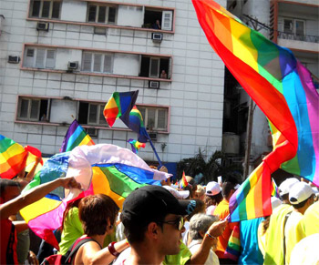 From a previous march against homphobia. Foto: Caridad