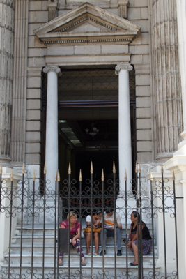 The Ministry of Finances and Prices on Obispo St. in Old Havana.
