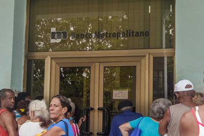 Branch of the Banco Metropolitano in Havana.