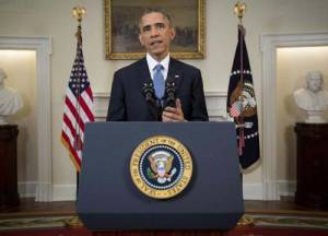US President Barack Obama announces restored diplomatic relations with Cuba on Dec. 17, 2014.