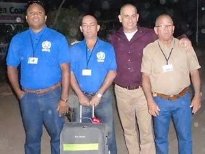 Dr. Félix Báez Sarría (third from the left) along with  other Cuban colleagues in Sierra Leone.