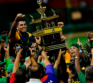 Pinar del Río celebrating the 2013-2014 Cuban League Championship.