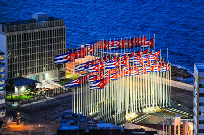 The US Interests Section building in Havana, soon to be the US Embassy. Photo: Bill Klipp
