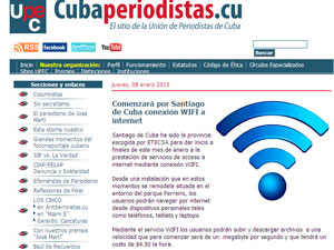 The original announcement published by the Cuban Journalists Association UPEC.