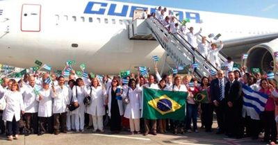 Cuban doctors in Brazil.  Photo: cibercuba.com