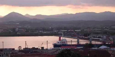 The Santiago de Cuba Bay port.
