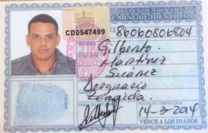 Gilberto's Cuban ID card issued in March 2014.