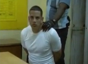 Gilberto Martinez (stage named Gilbert Man) during his arrest. The still is taken from a video divulged this past Monday.
