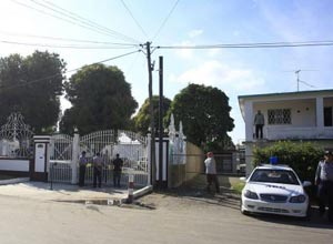 Gilberto's house during the police operation in January.