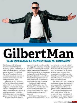 Gilbert Man in Vistar magazine.