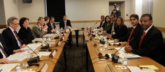 The talks took place at the US State Department in Washington.  Foto: Ismael Francisco/cubadebate.cu