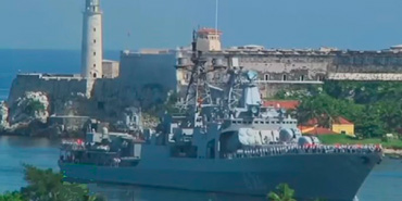 Russian Ship in Havana Bay.