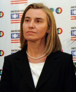 Federica Mogherini, jefa de diplomacía de la Unión Europea.  Foto: wikipedia.org