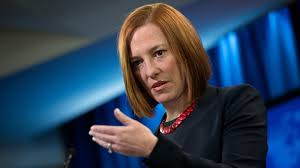 Us State Department spokesperson Jen  Psaki.  Photo rt.com