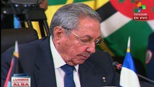 Raul Castro in Caracas.  Photo: telesurtv.net