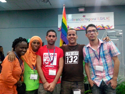 At the Regional Conference of the International Lesbians, Gays, Bisexuals, Transsexuals and Intersexuals Association of Latin America and the Caribbean (ILGALAC)