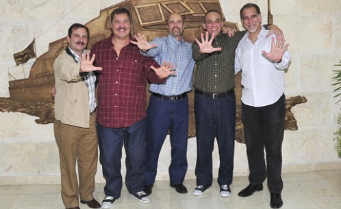 The Cuban Five together in Havana.  Photo: answercoalition.org